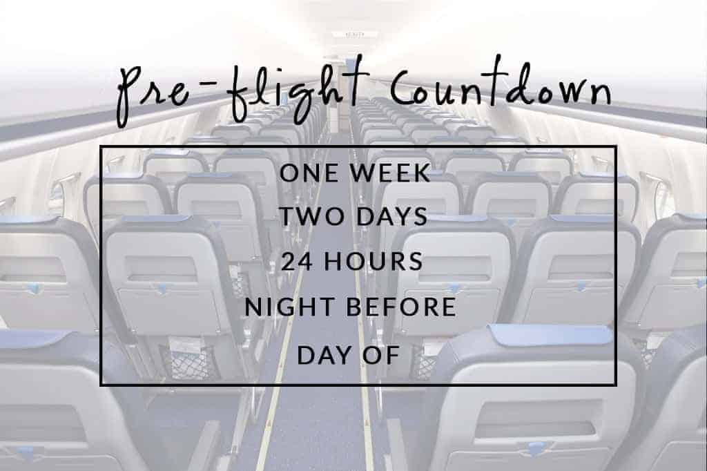Pre Flight Countdown