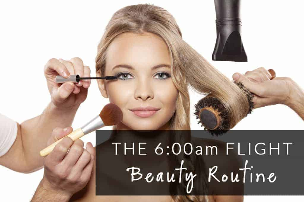Early Morning Flight Beauty Routine