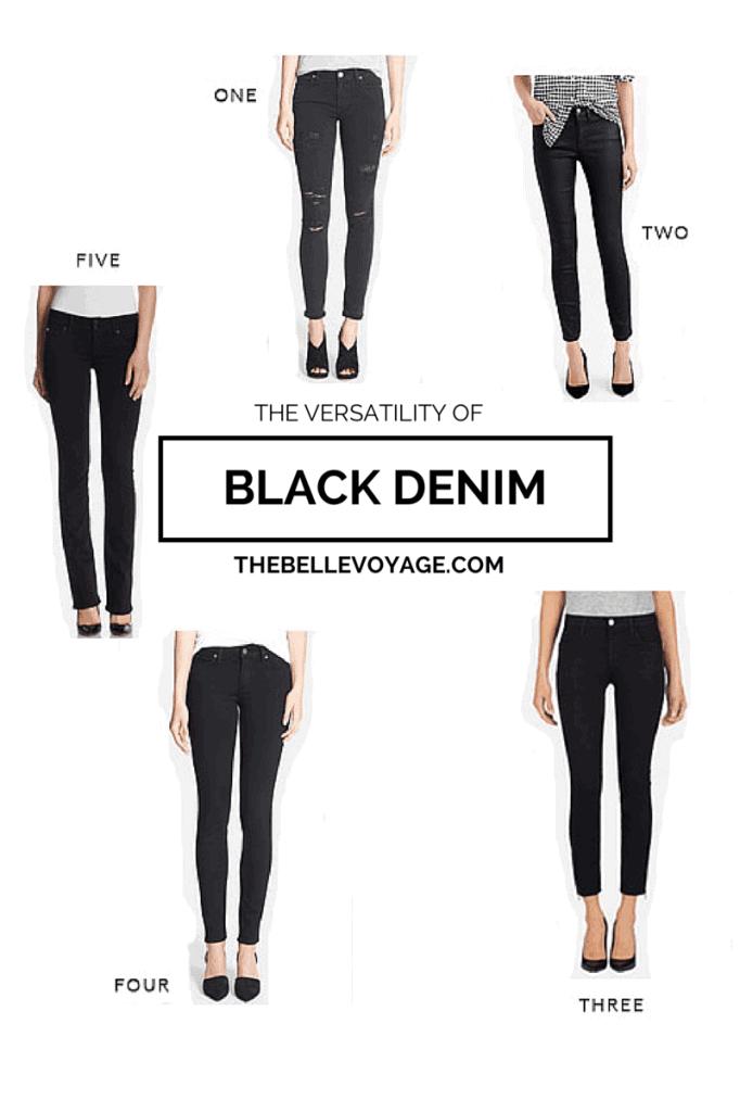 Black Denim for Travel