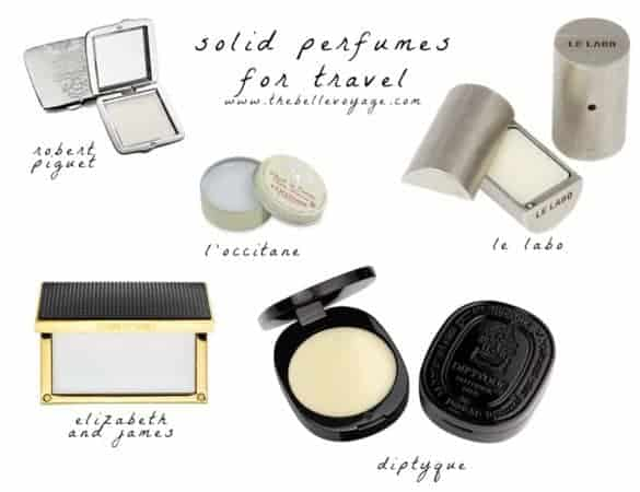 solid perfume travel