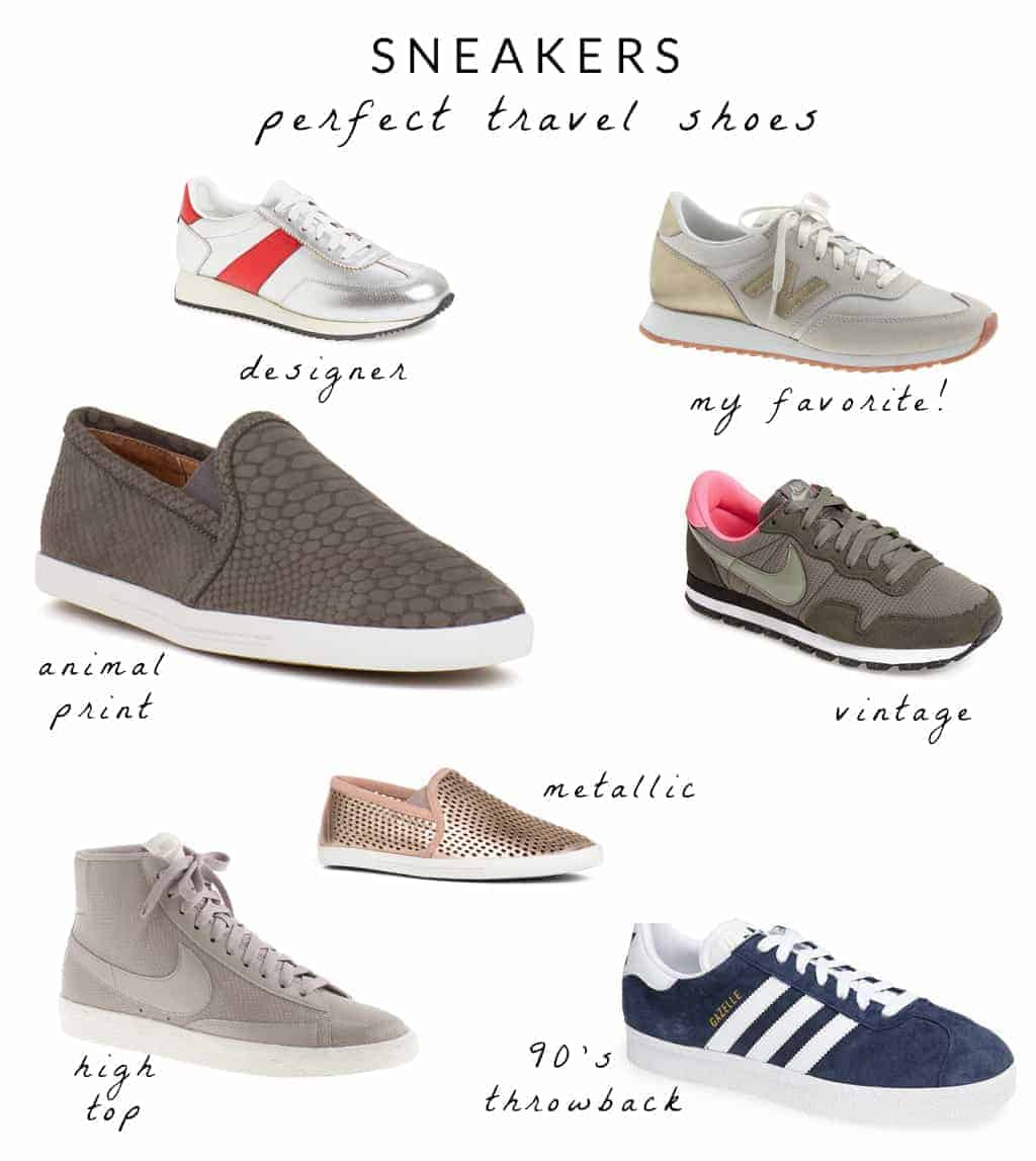 sneakers the perfect travel shoe