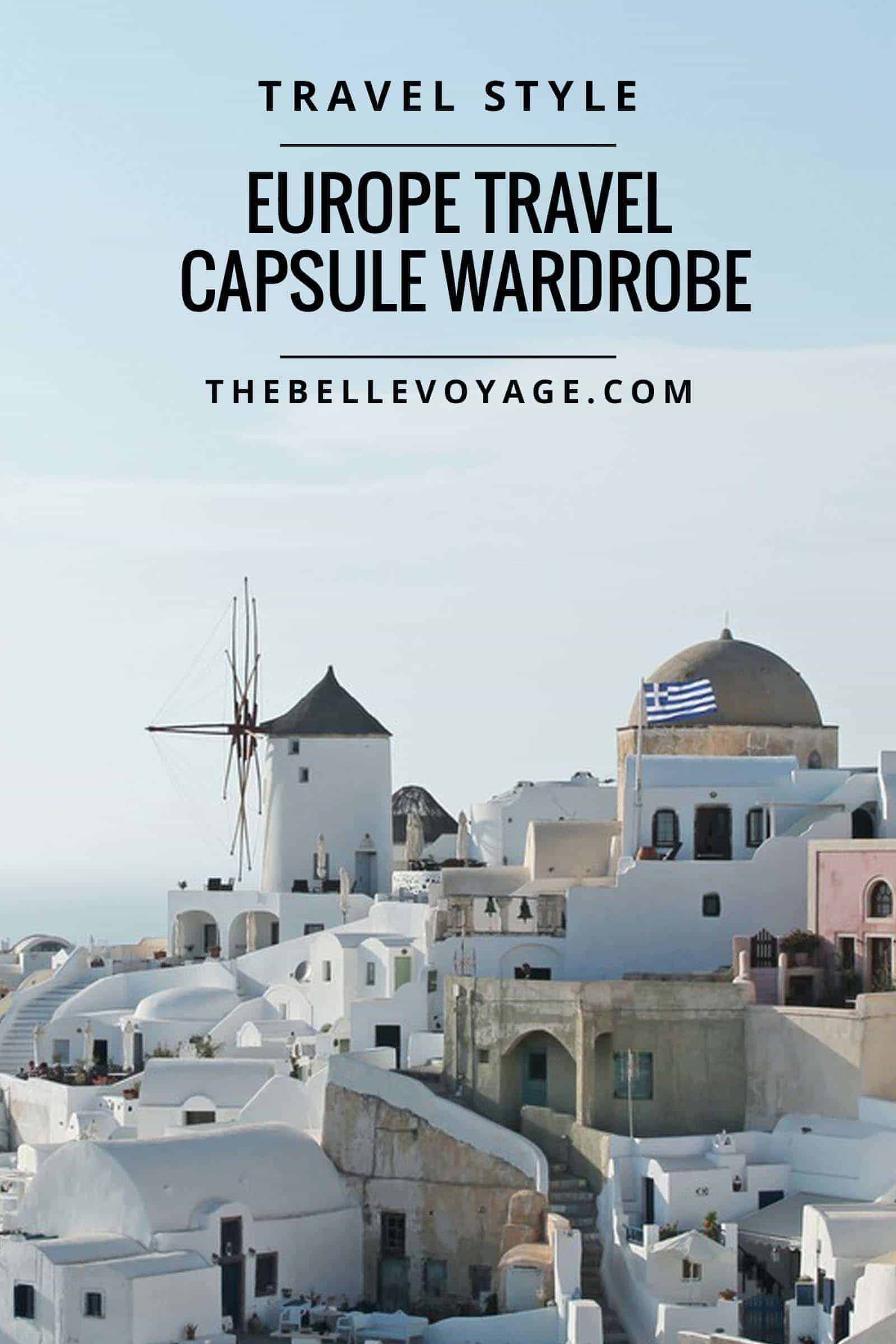 europe travel capsule wardrobe