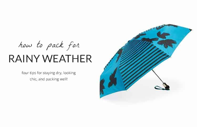 how to pack for rainy weather