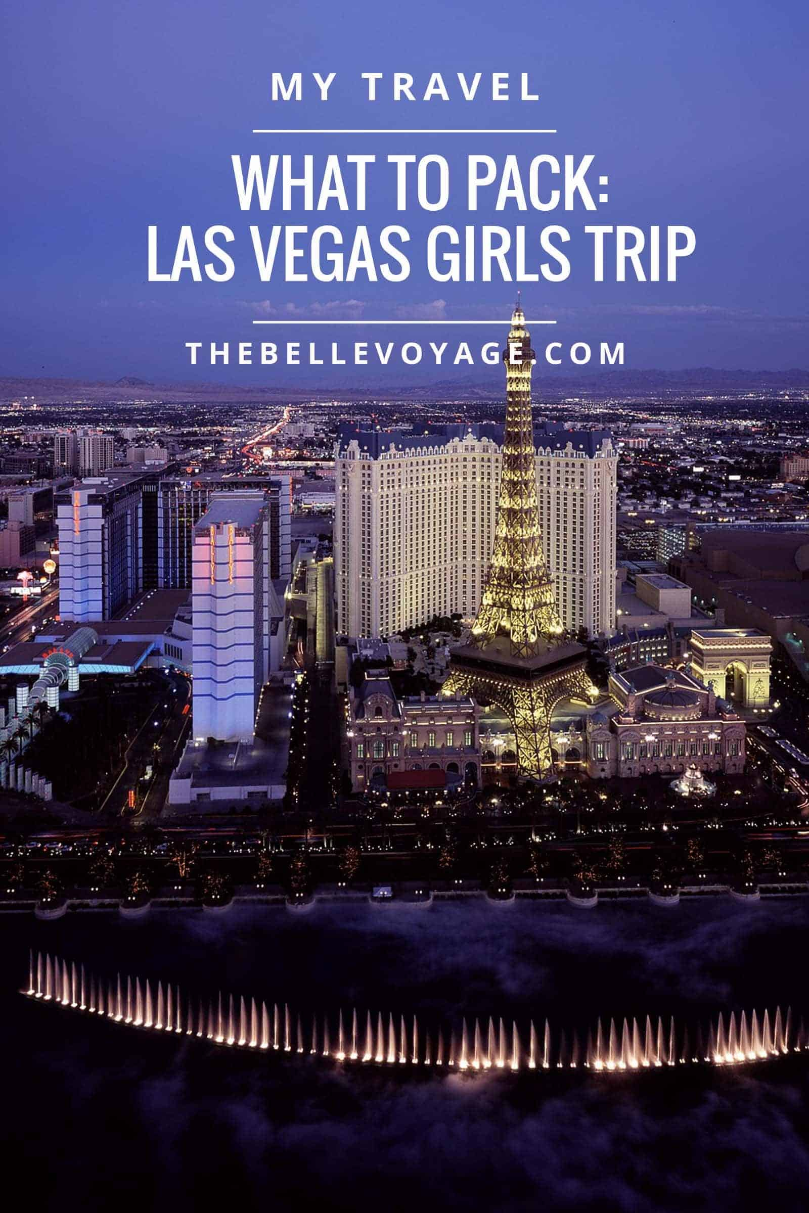 What I packed for a girls weekend in Las Vegas