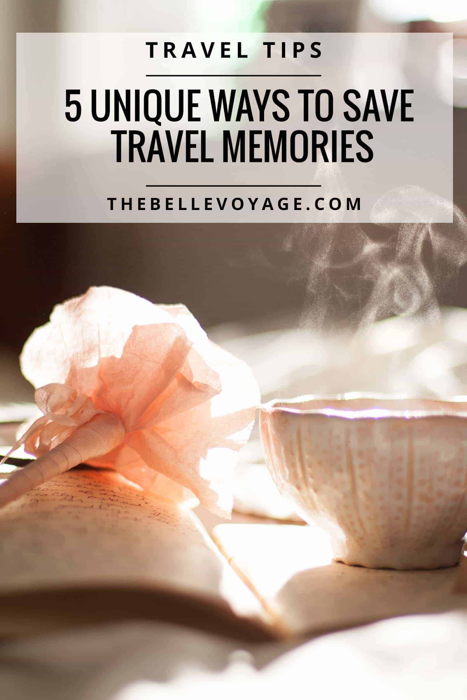 save travel memories