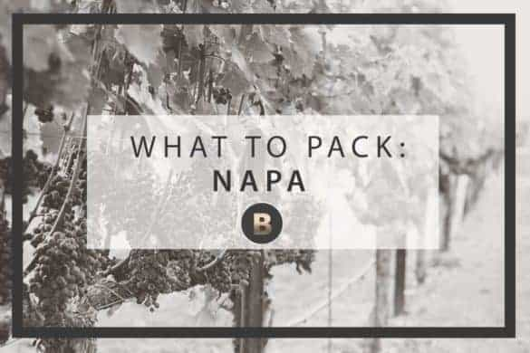 napa packing list