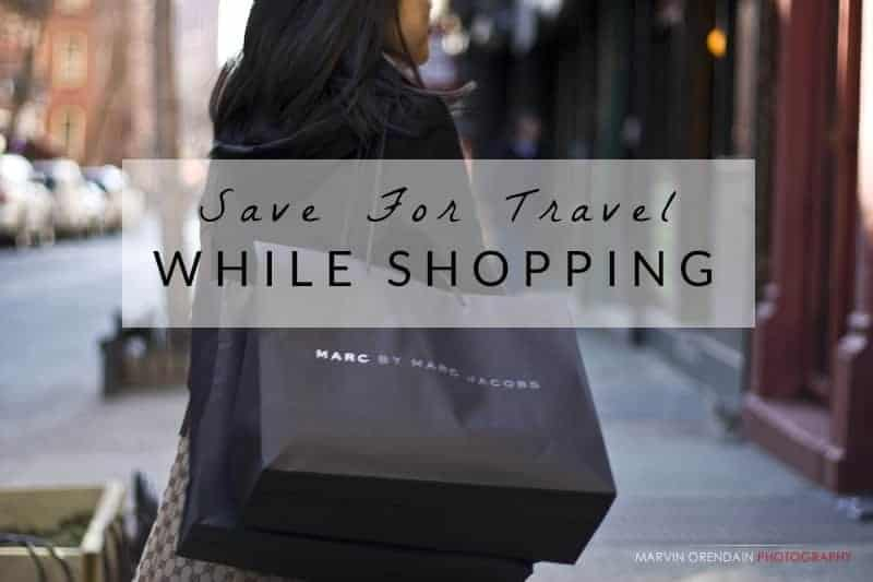 save for travel while shopping