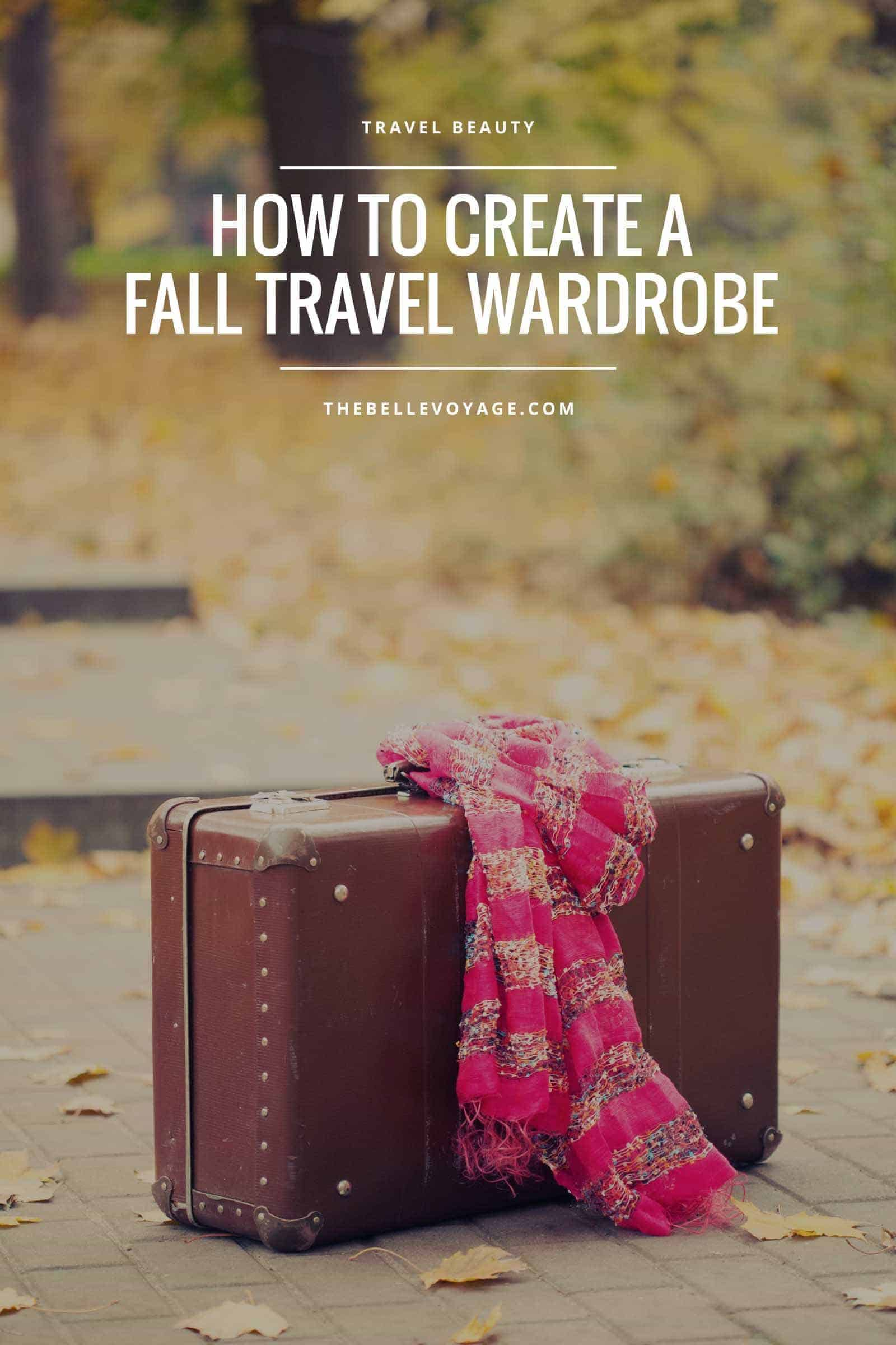 fall travel wardrobe