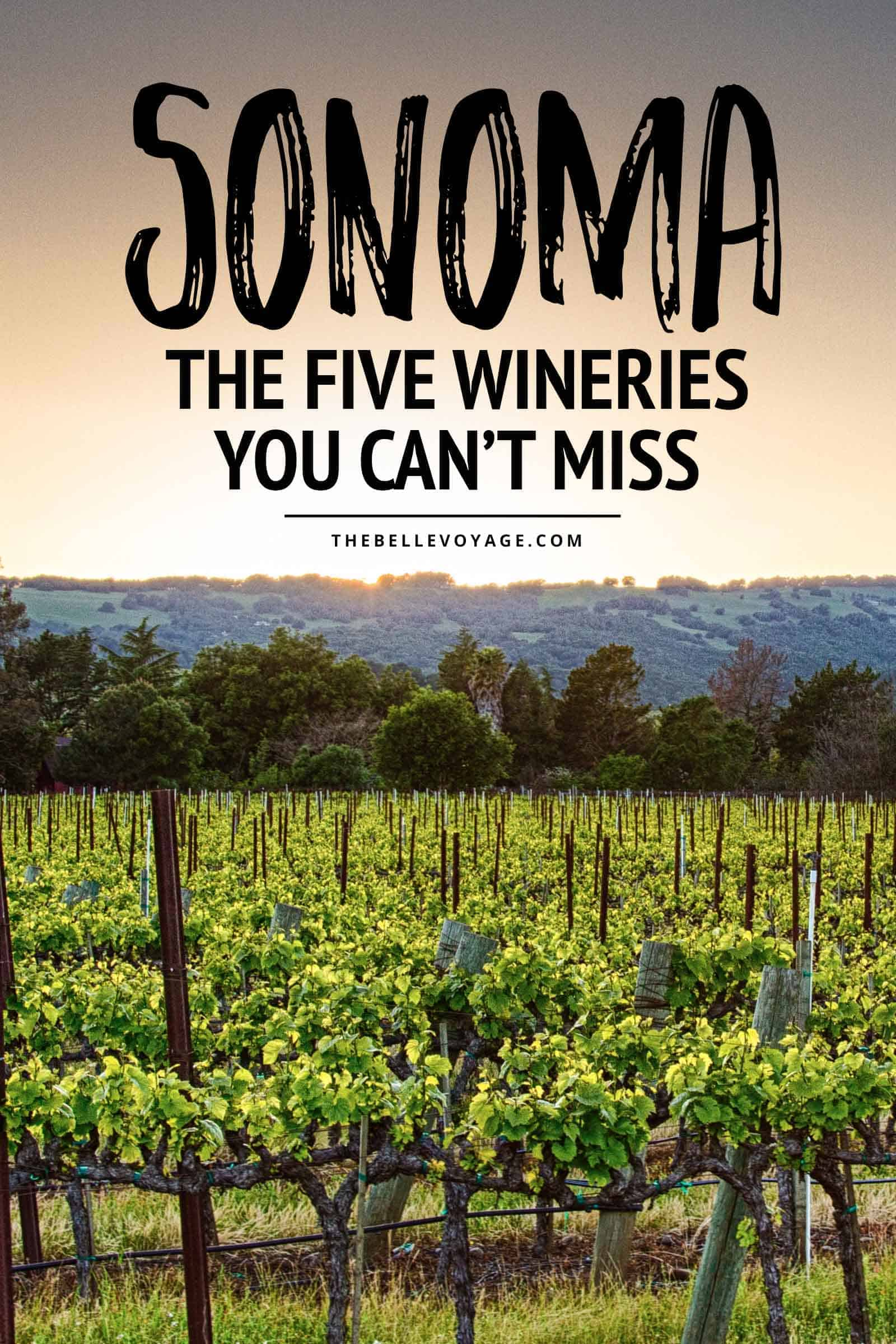 Sonoma valley California wineries