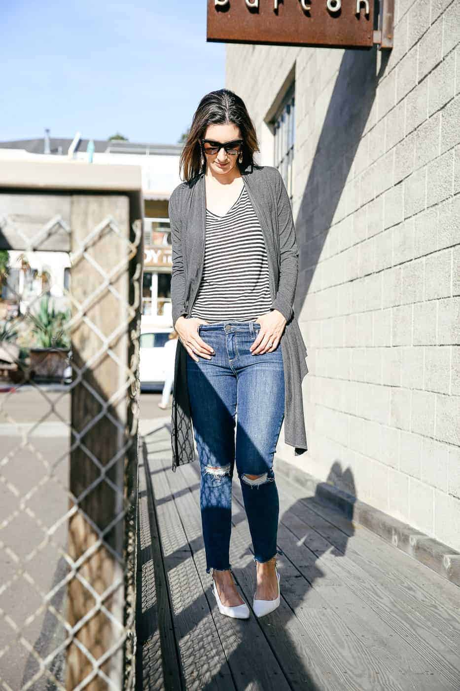 multiway wrap top as a casual outer layer