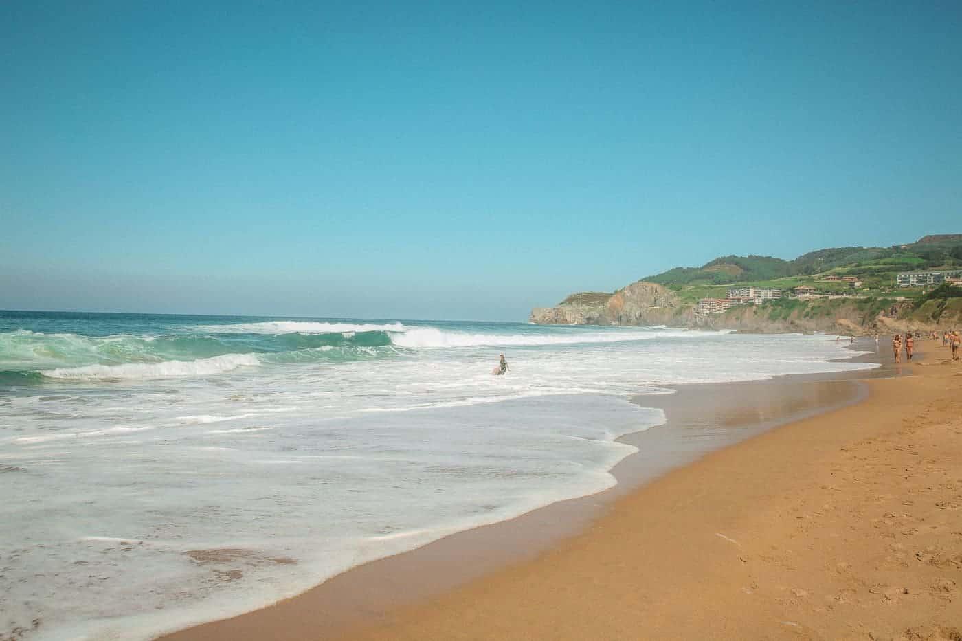 bakio beach near San Juan de gaztelugatxe